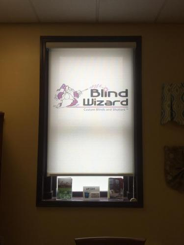 Commercial Projects - Schedule FREE Consult - Blind Wizard WV - Logo Shade