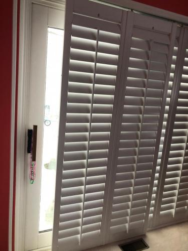 Blind Wizard - Plantation Shutters, Blinds, and Shades in West Virginia - ByPass Shutter Door